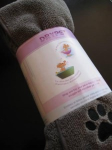 Dog Product Review: Drypet Microfiber Dog Towel