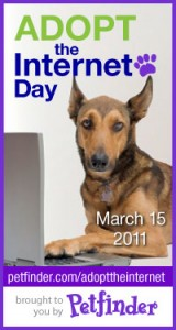 petfinder.com adopt the internet 2011 badge
