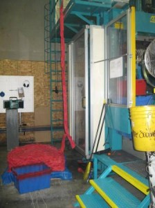rubber manufacturing machine used to make KONG dog toys