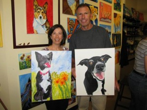Dog Event Review: Art on the Brix Paint Your Pet Night