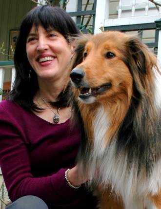 best dog blog, champion of my heart, photo of Animal Wise author Virginia Morell and her dog Buck
