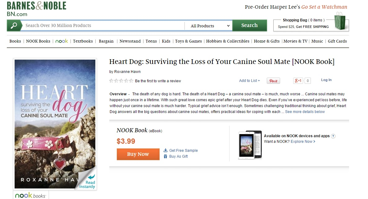 heart dog surviving the loss of your canine soul mate by roxanne hawn on nook