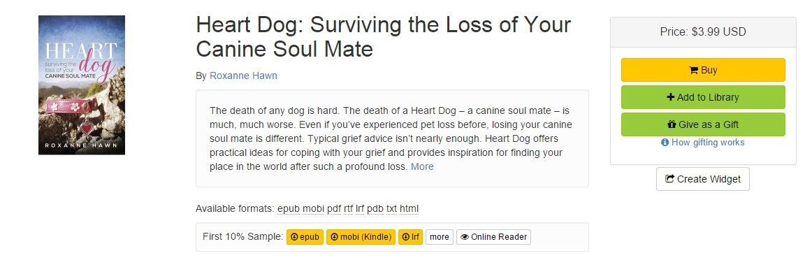 heart dog surviving the loss of your canine soul mate by roxanne hawn for sale in smashwords