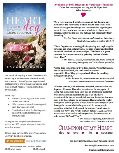 heart dog surviving the loss of your canine soul mate by roxanne hawn bulk orders for veterinary hospitals