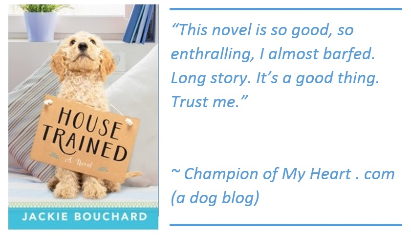 House Trained by Jackie Bouchard book review graphic