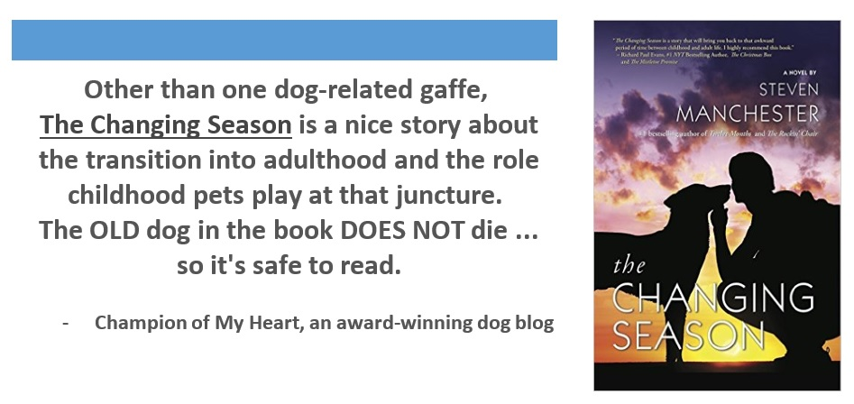Book Review The Changing Season, Champion of My Heart, dog blog