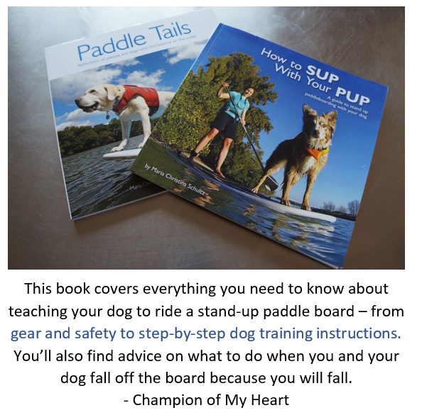 stand-up paddleboarding with your dog