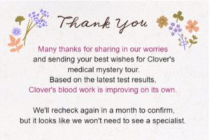 A Proper Thank You Note and Clover Medical News