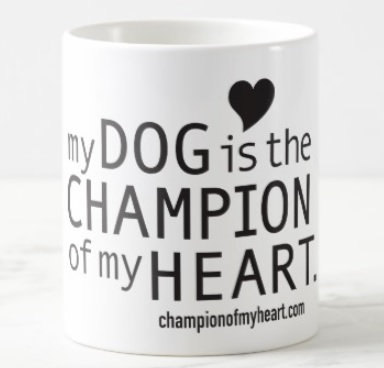 champion of my heart coffee mug