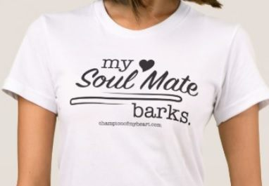 my soul mate barks t-shirt