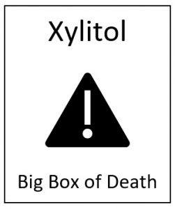 xylitol toxic to dogs graphic