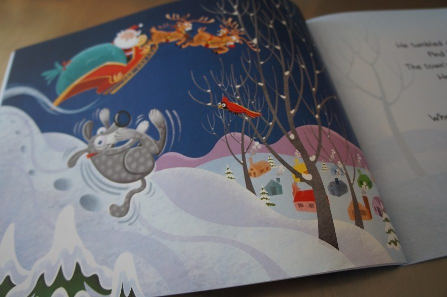 Dog book review Santa's Dog, kids book about dog adoption
