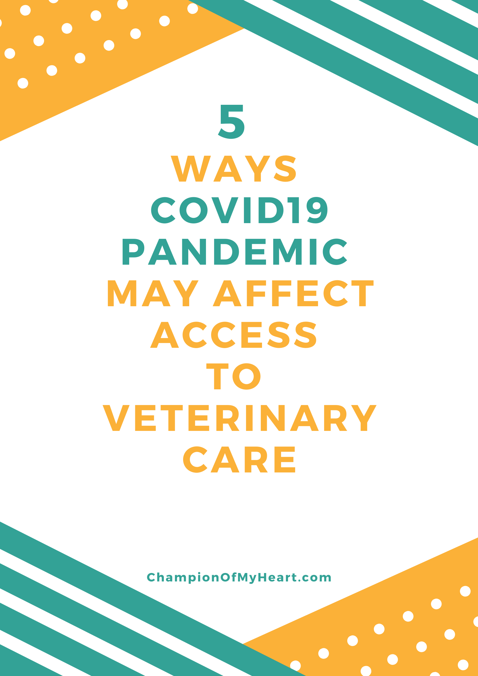 COVID19 Pandemic May Affect Access to Veterinary Care